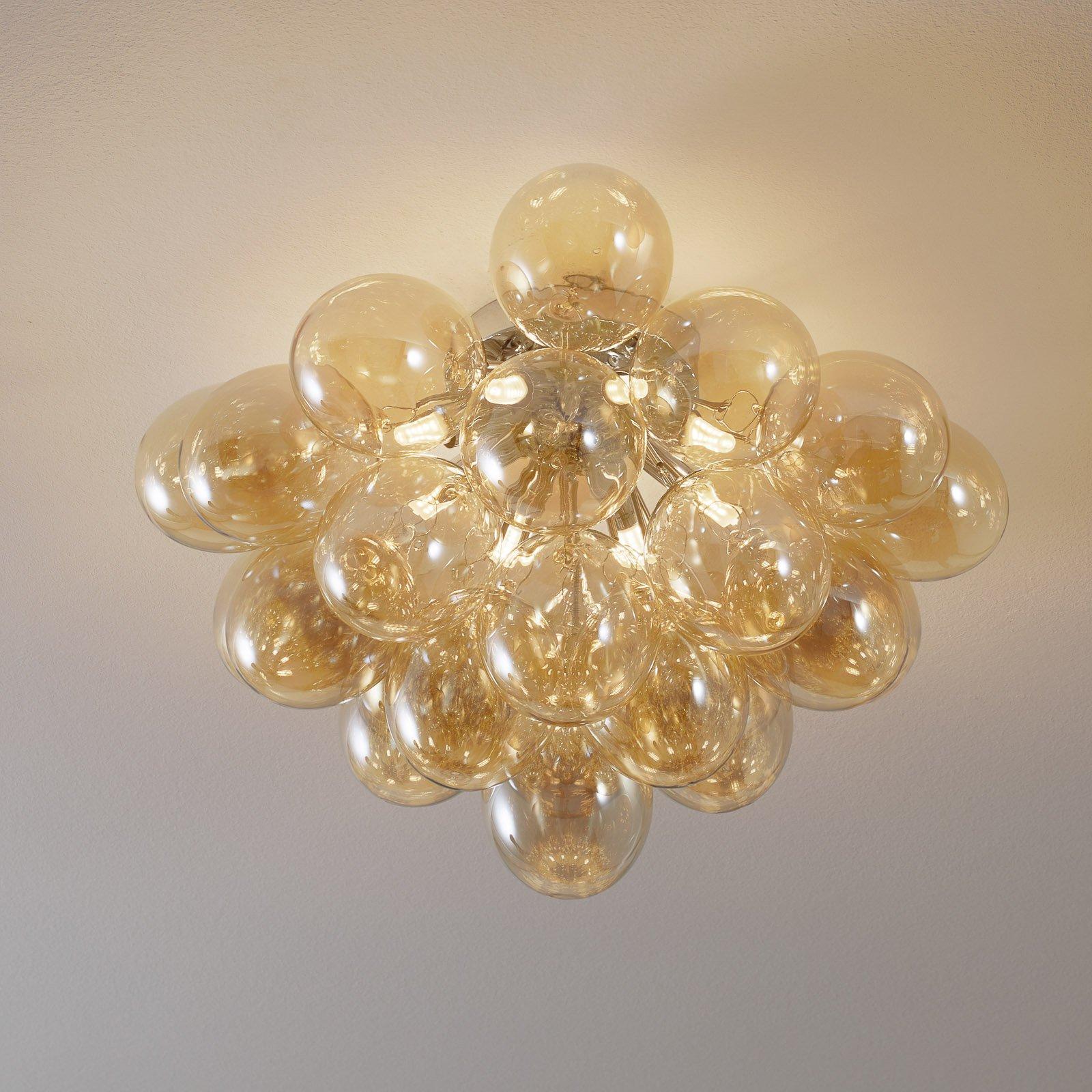 Balbo taklampe, glass rav