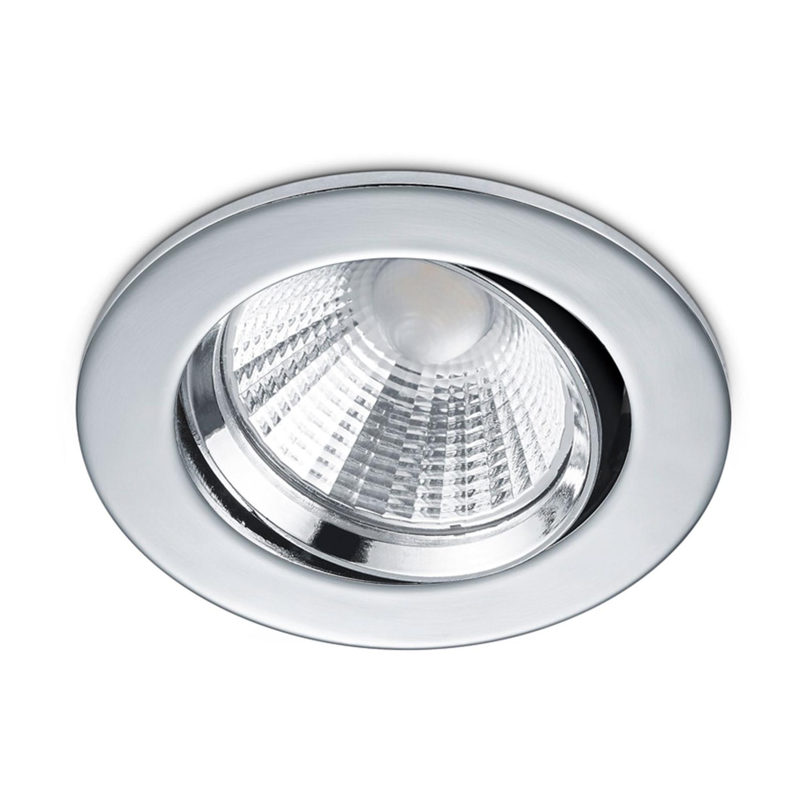 Pyöreä LED-kohdevalaisin Pamir, kromi