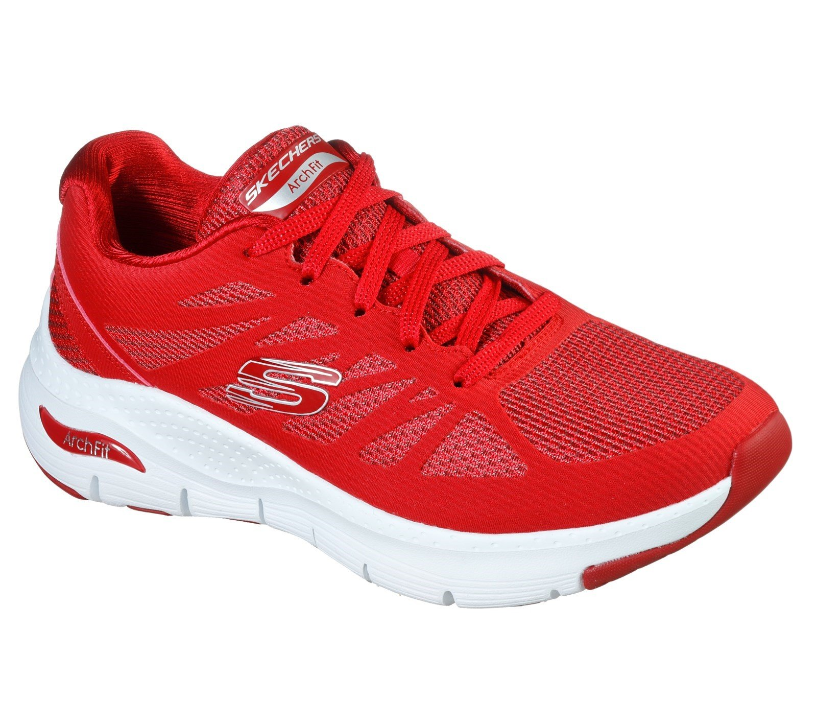 Skechers Women's Arch Fit Vivid Memory Sport Trainer Red 32840 - Red 3