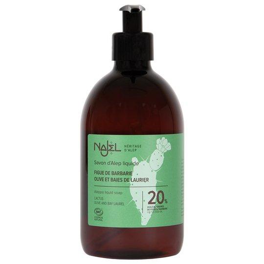 Najel Flytande Aleppotvål - 20% kaktusfikonfröolja, 500 ml