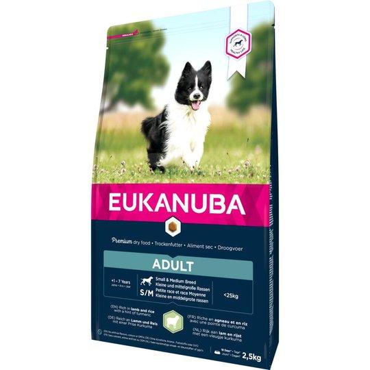 Eukanuba Dog Adult Small & Medium Breed Lamb & Rice (2,5 kg)