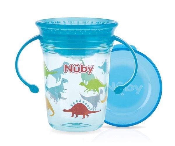 Nûby Dricksglas med Handtag, Blå