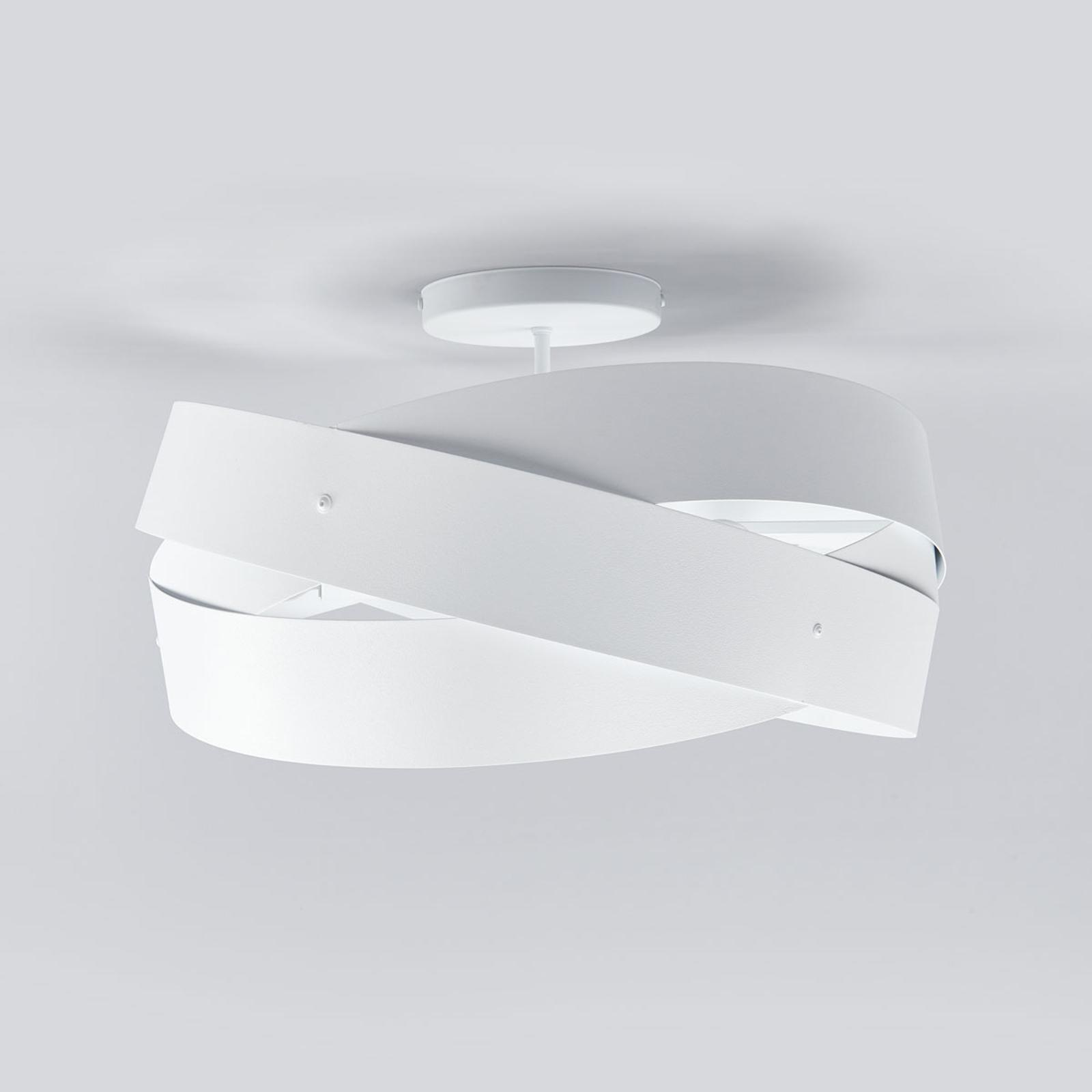 Tornado - kaunismuotoinen kattolamppu valkoisena