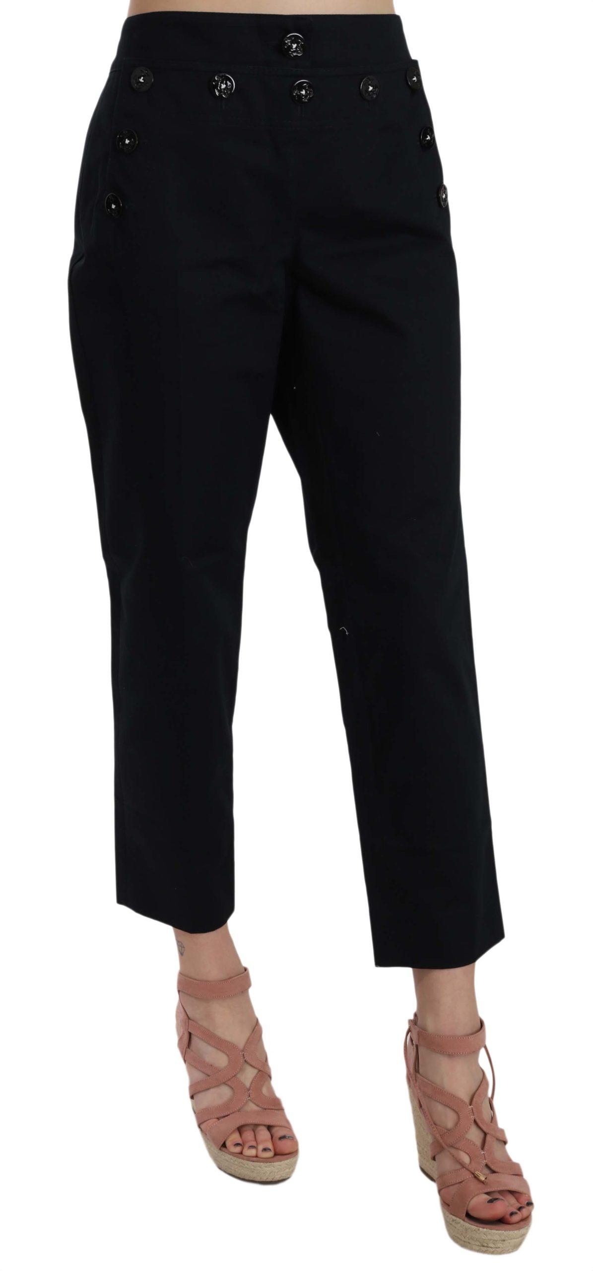 Dolce & Gabbana Women's Trouser Black PAN70011 - IT36|XXS