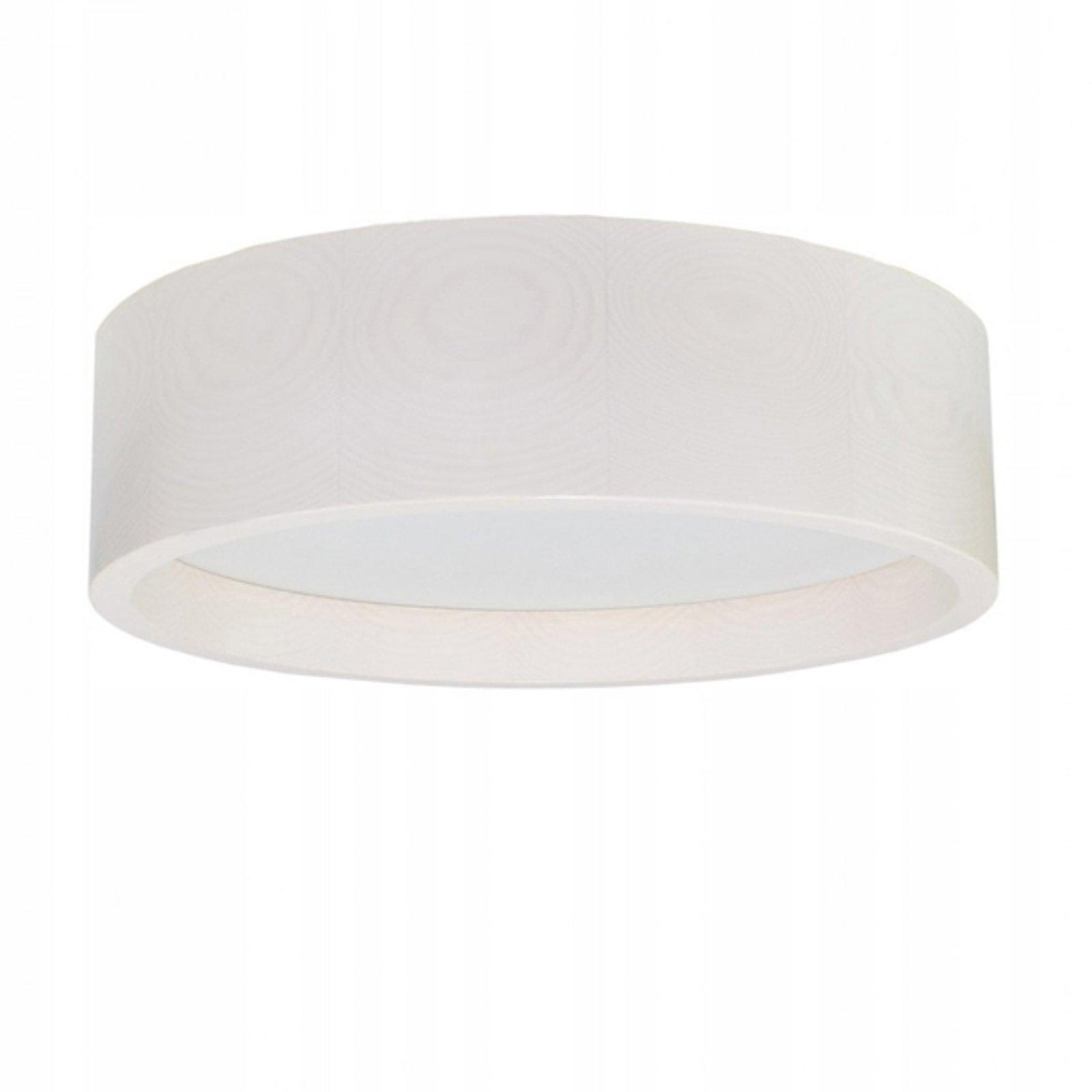 LED-taklampe Deep, Ø 38 cm, hvit