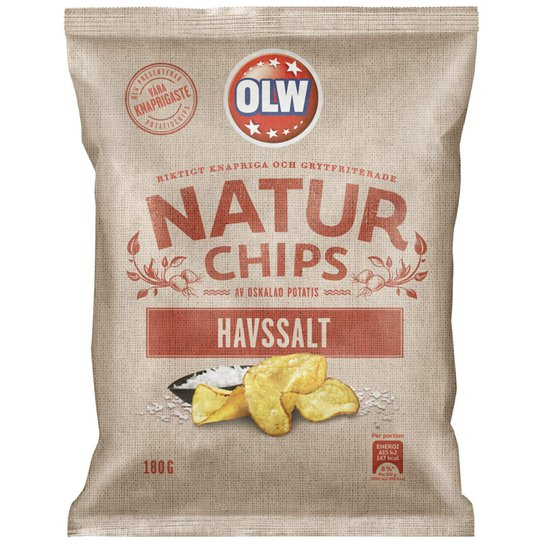 Chips Havssalt 180g - 32% rabatt
