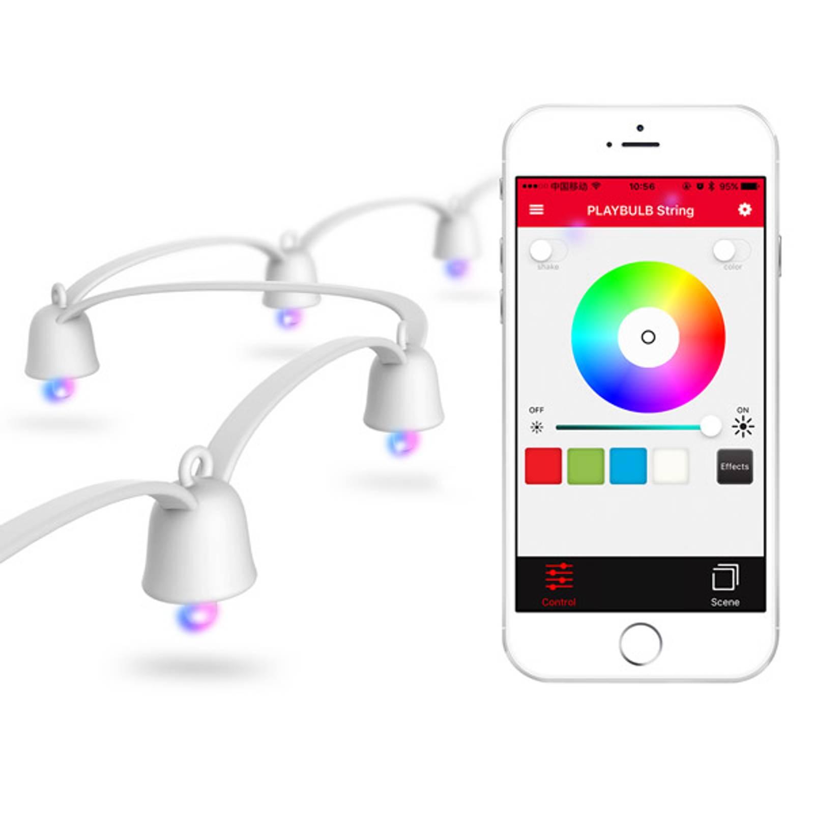 MiPow Playbulb String -LED-valoketju, valk. runko