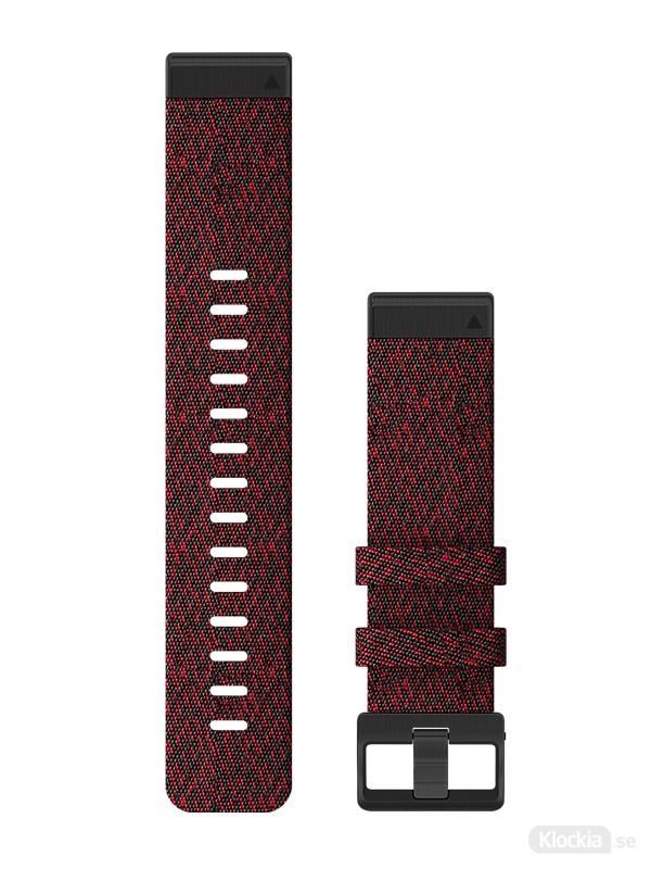 Garmin QuickFit 22mm - Klockarmband, Röd Melerad Nylon