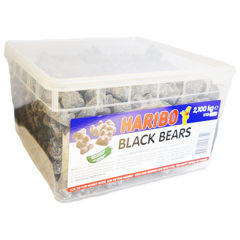 "Laatikollinen makeisia ""Black Bears"" 2,1 kg - 67% alennus"