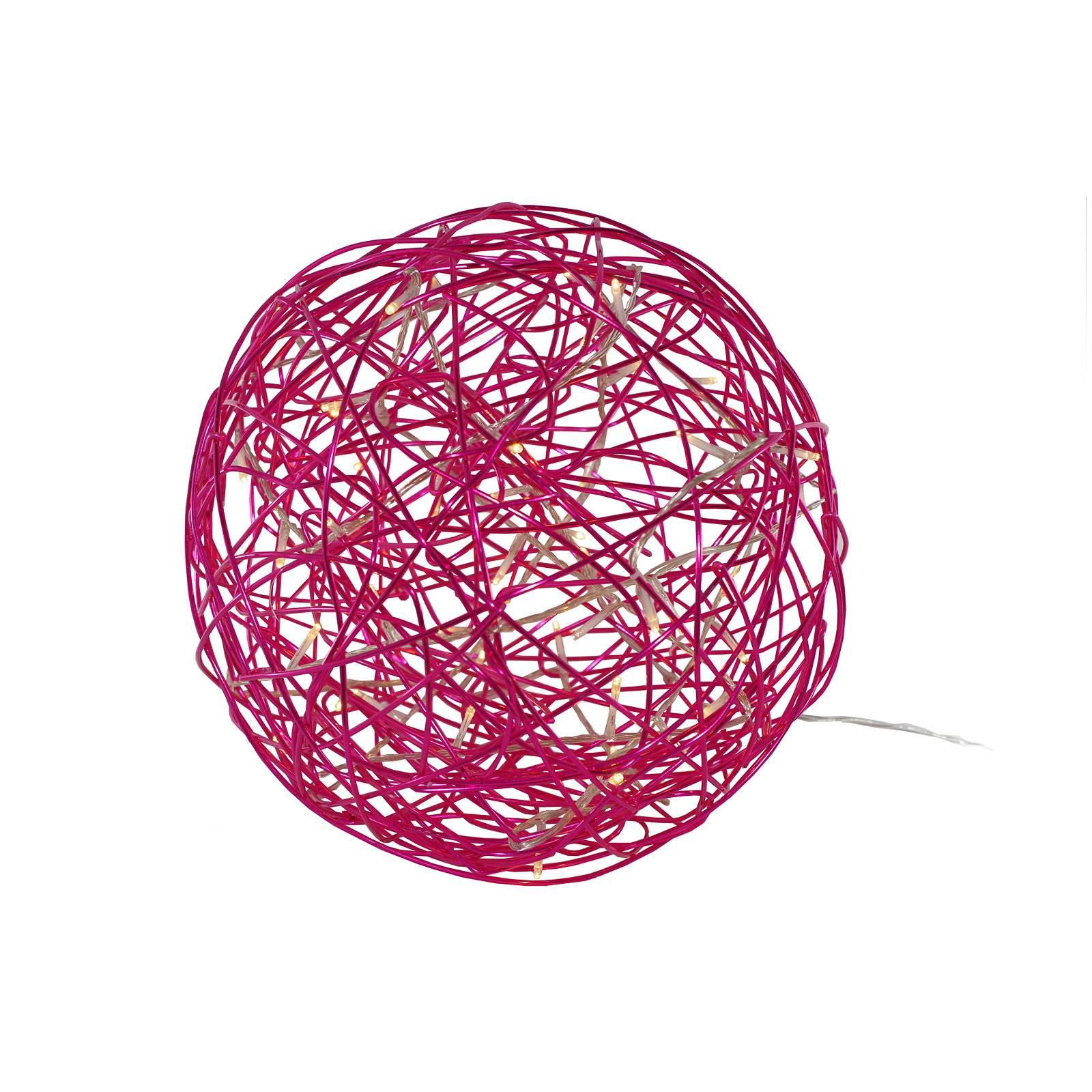 Galax Fun -LED-3D-design-pallo, Ø 30 cm, fuksia