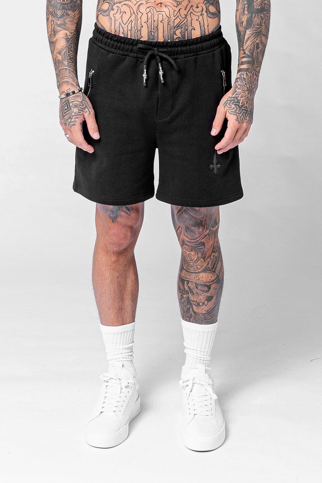 Vanna Essential Men's Jogger Shorts - Black, XX-Large