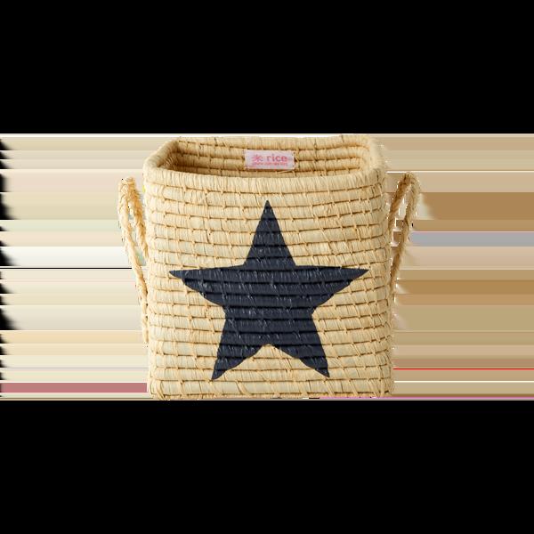 Rice - Small Square Raffia Basket - Star