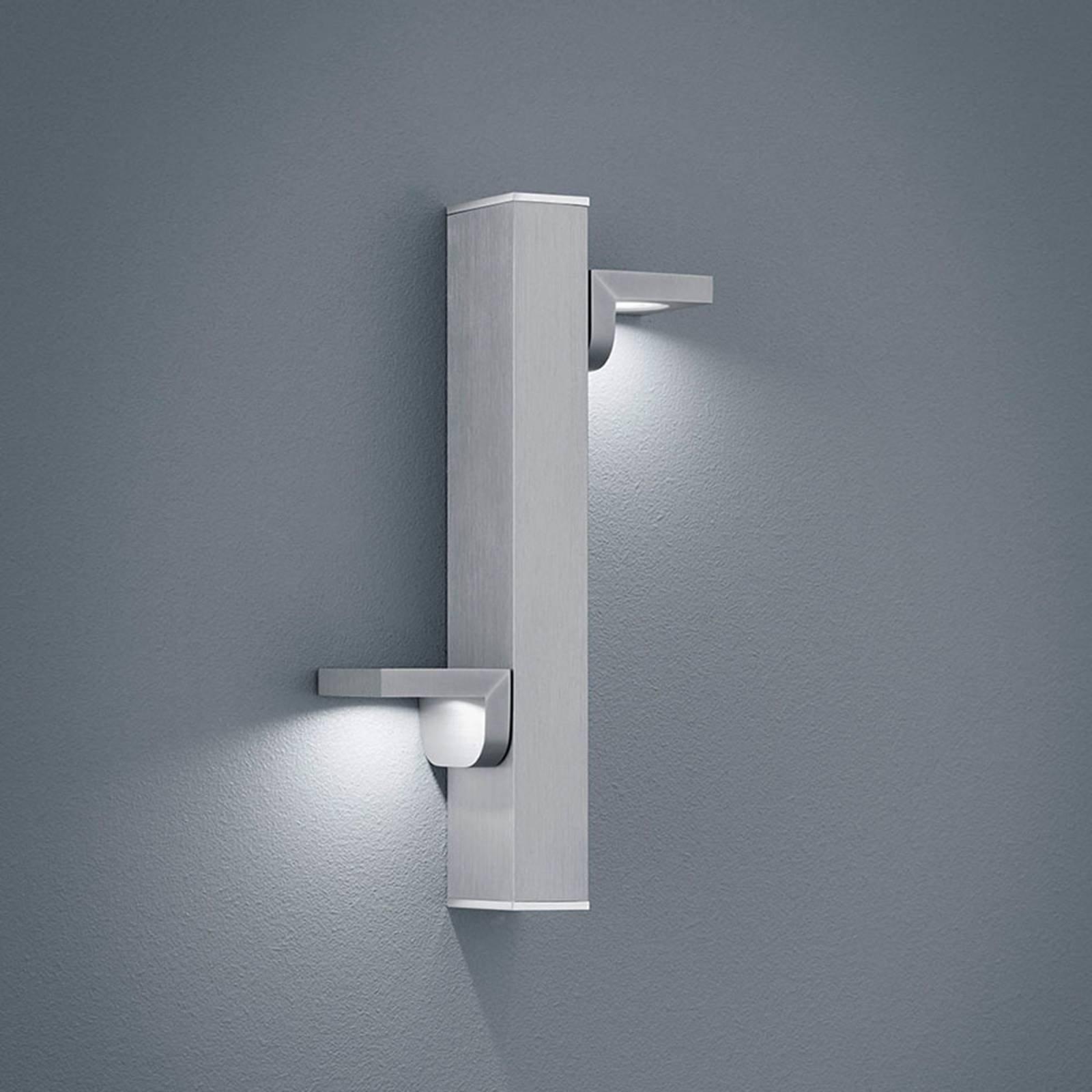 Helestra Arta LED-vegglampe, nikkel matt/krom