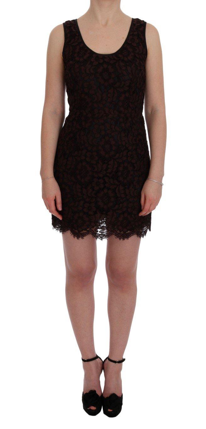 Dolce & Gabbana Women's Floral Lace Ricamo Sheath Dress Bordeaux SIG60220 - IT42|M