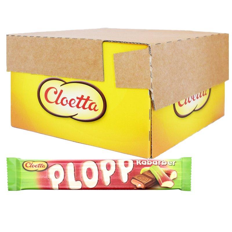 Laatikollinen Plopp-suklaapatukoita, raparperi 35 x 50 g - 67% alennus
