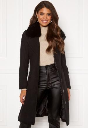 Happy Holly Mariah wool blend coat Black 38