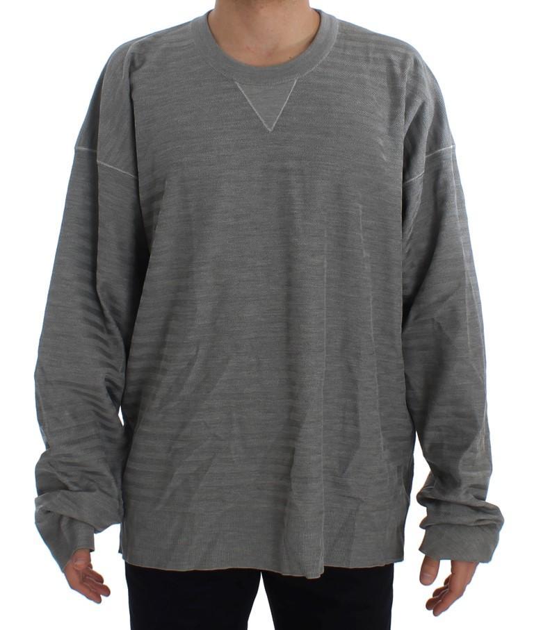 Dolce & Gabbana Men's Crewneck Pullover Silk Sweater Gray TIT20531 - IT48 | M
