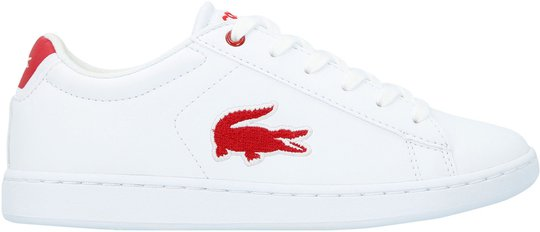 Lacoste Carnaby Evo 318 Sneaker, White/Red 35