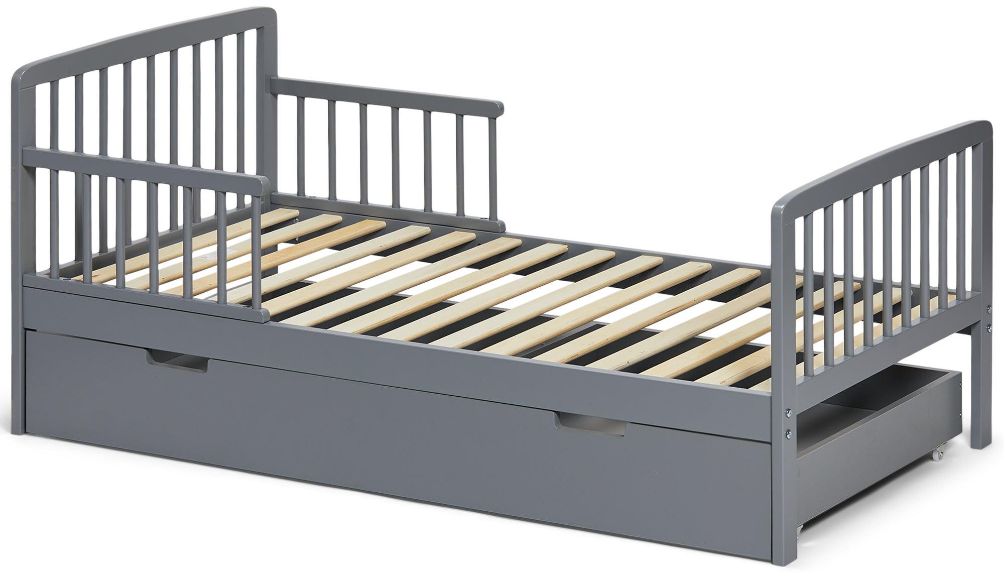 JLY Heaven Juniorisänky + Sängynaluslaatikko, Harmaa