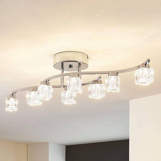 Yaro – dimbar, LED-taklampe med 8 lyskilder