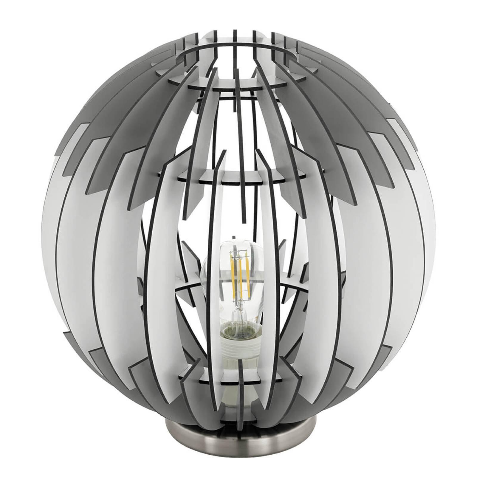 Olmero - trendy bordlampe med lamellskjerm