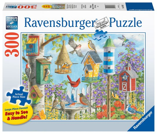 Ravensburger Puslespill Home Tweet Home 300 Brikker, Større Brikker