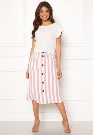 ONLY Madeline Piper Midi Skirt Rose Smoke/Stripes 40