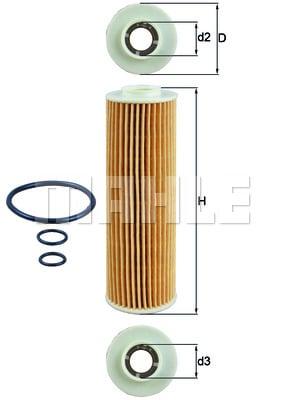 Öljynsuodatin KNECHT OX 183/5D