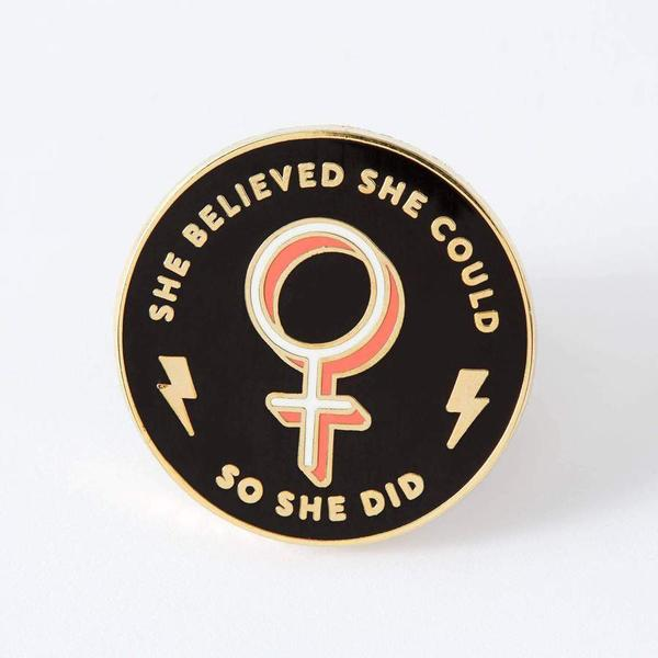 She Believed She Could. So She Did Enamel Pin