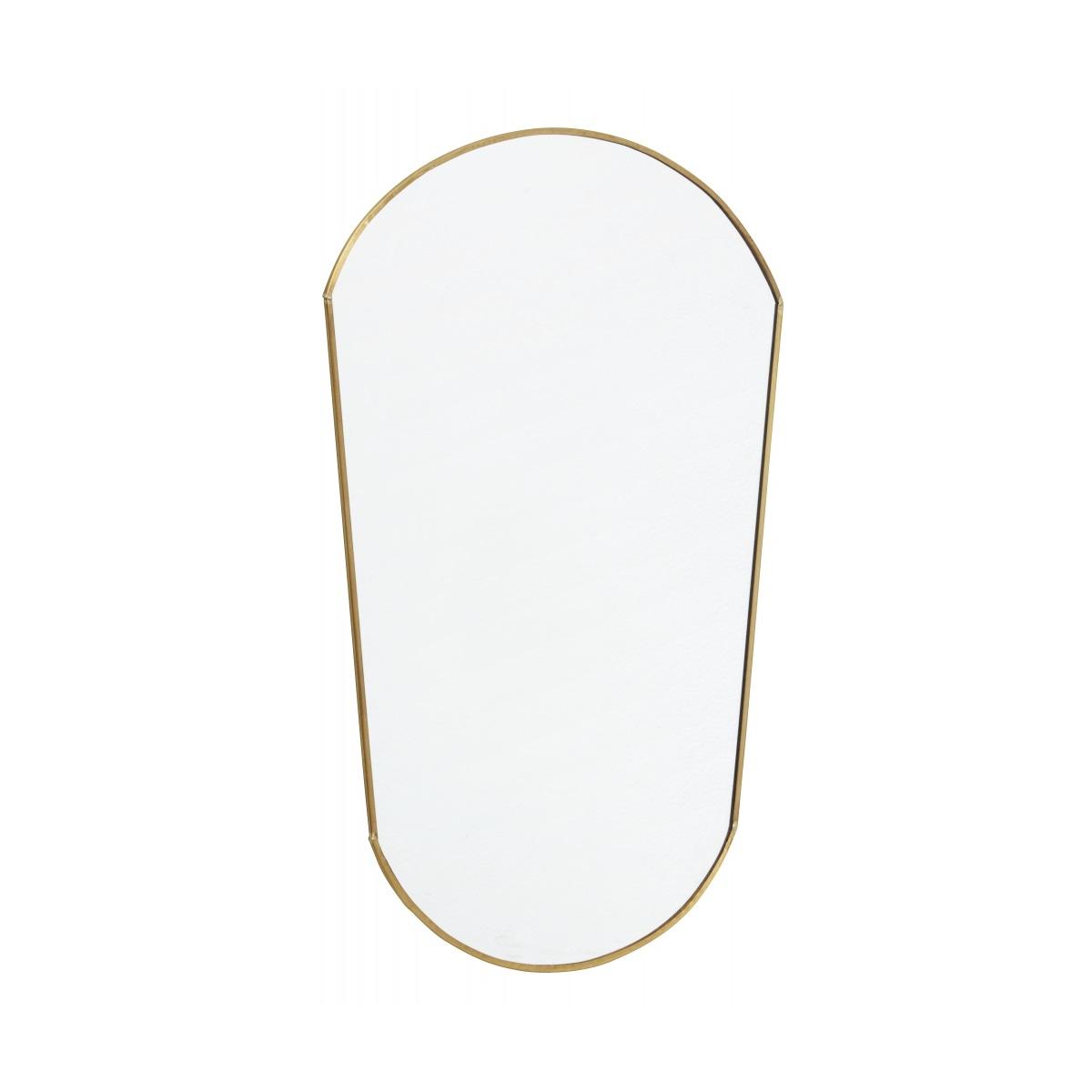 Oval spegel antik guld Nordal