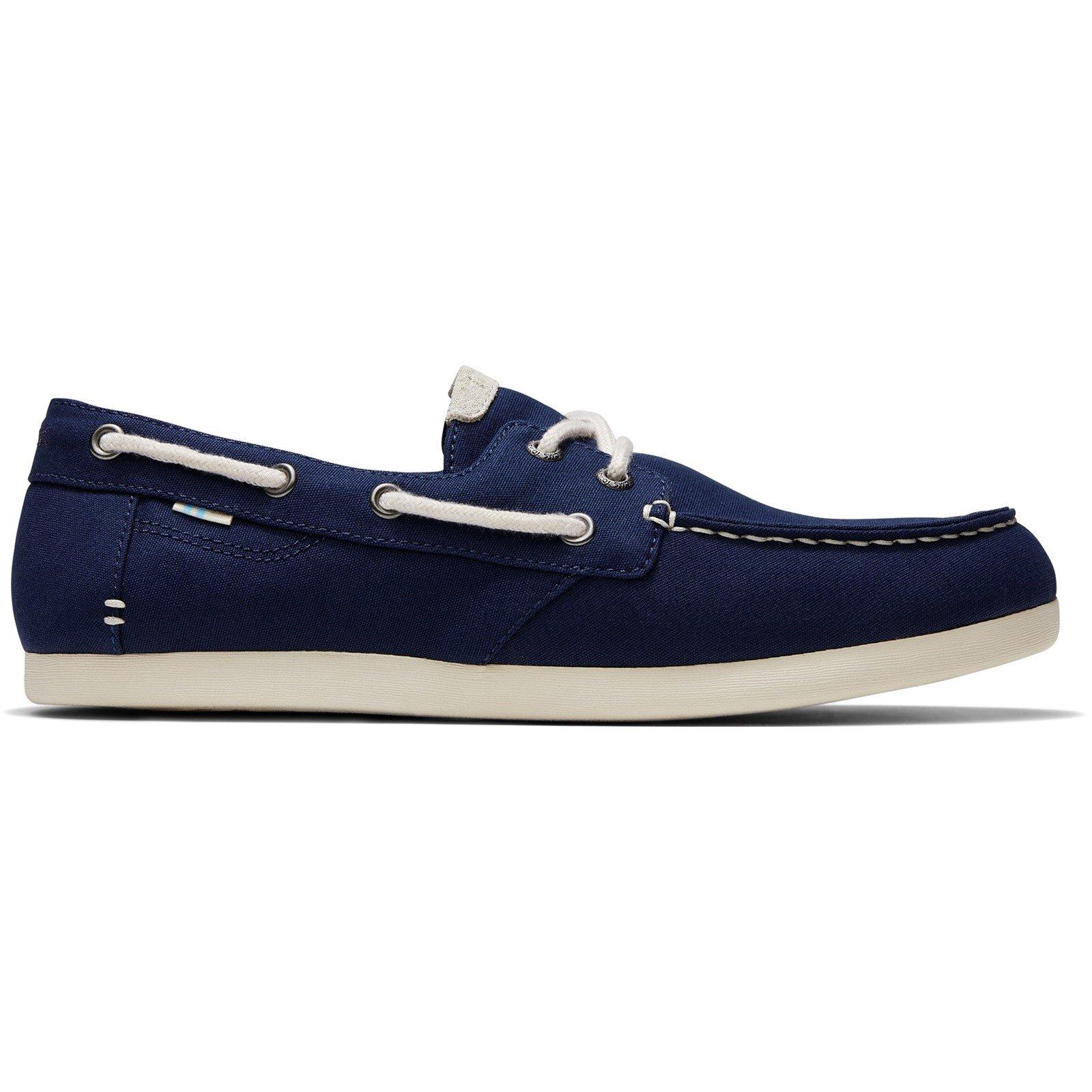 TOMS Men's Claremont Tan Canvas Boat Shoe Various Colours 32556 - Navy 7