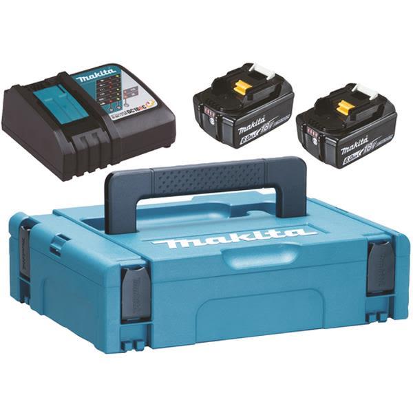 Makita Powerpack 198116-4 ladepakke 2 x 6,0 Ah batterier, ladere og bag