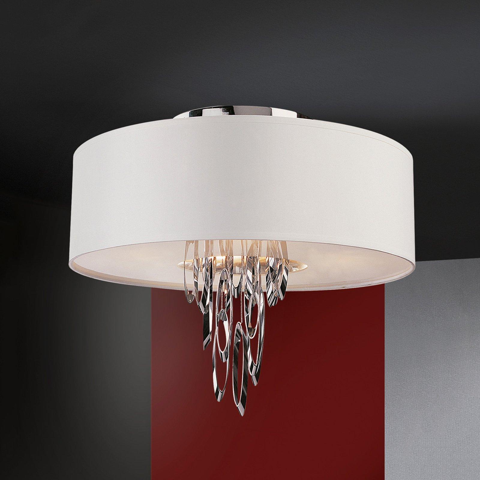 Domo elegant taklampe av tekstil