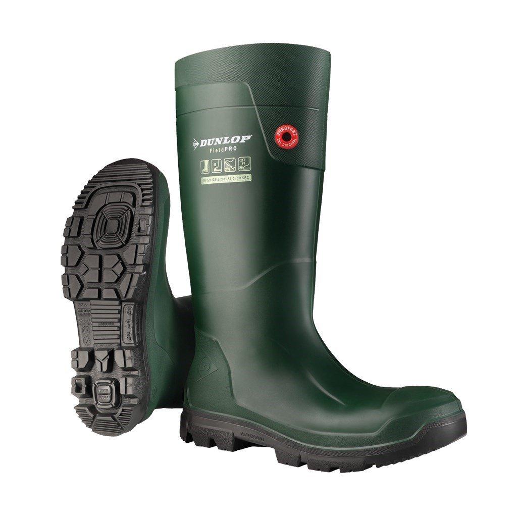 Dunlop Unisex FieldPro Full Safety Wellington Boot Green 33482 - Green 2