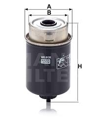 Polttoainesuodatin MANN-FILTER WK 8131