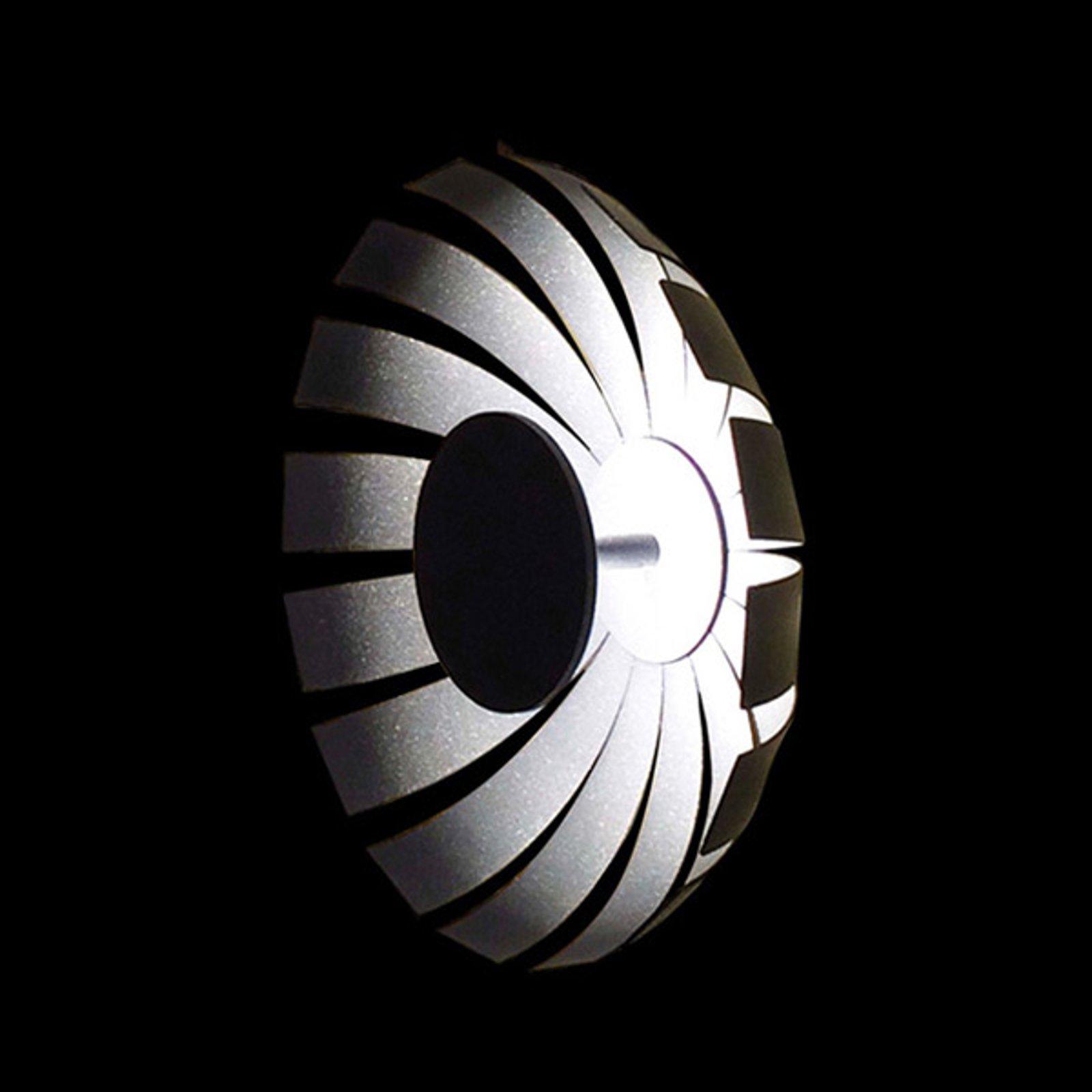 Loto LED-designer-taklampe, antrasitt, 27 cm