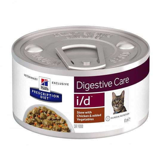 Hill's Prescription Diet Feline i/d Digestive Care Stew Chicken & Vegetables 82 g