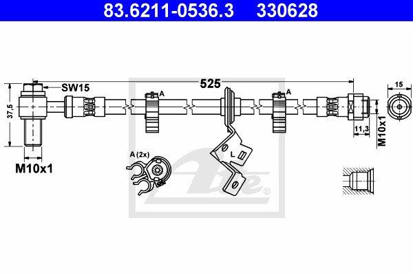 Jarruletku ATE 83.6211-0536.3