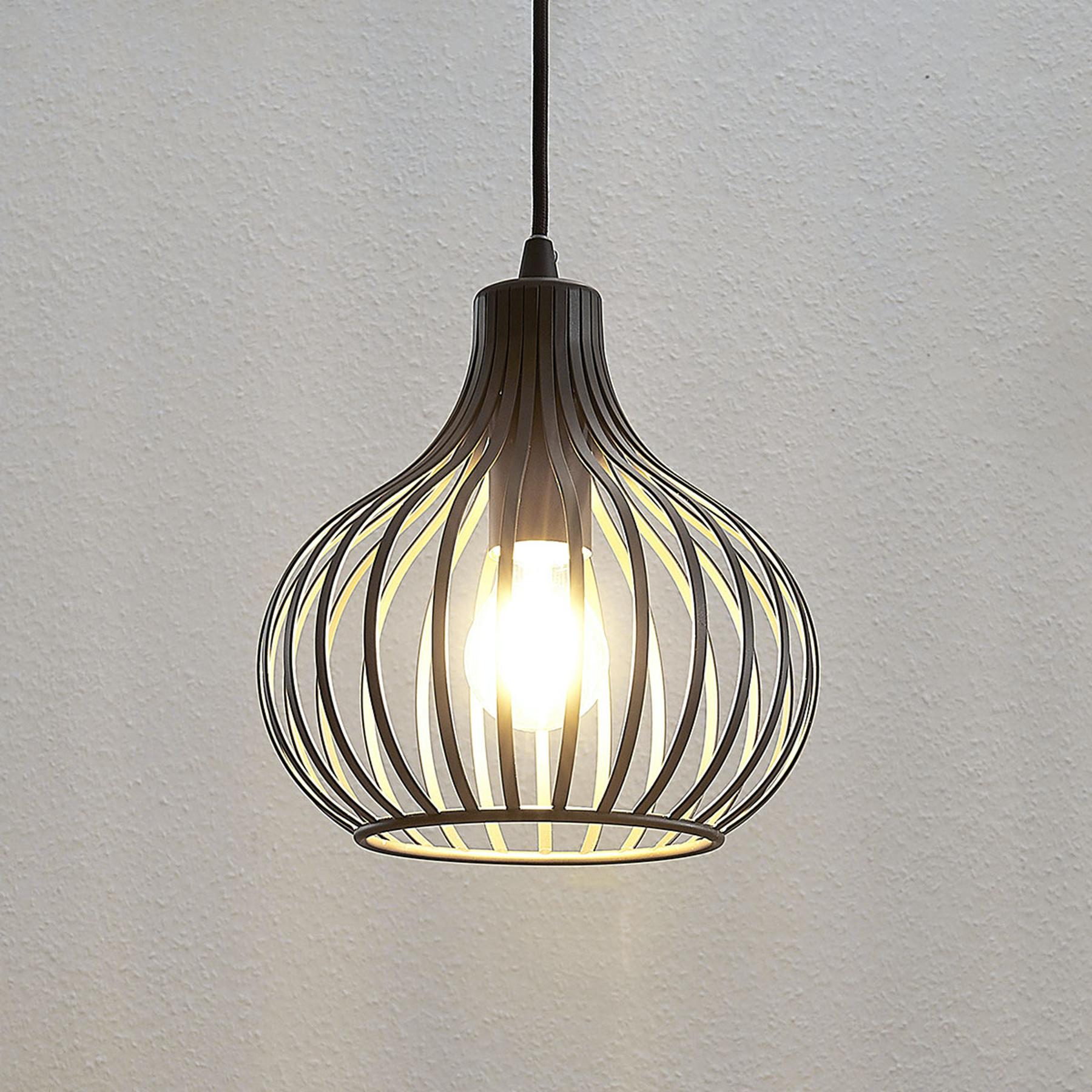 Riippuvalaisin Frances, ruskea, 1-lamppuinen 23 cm