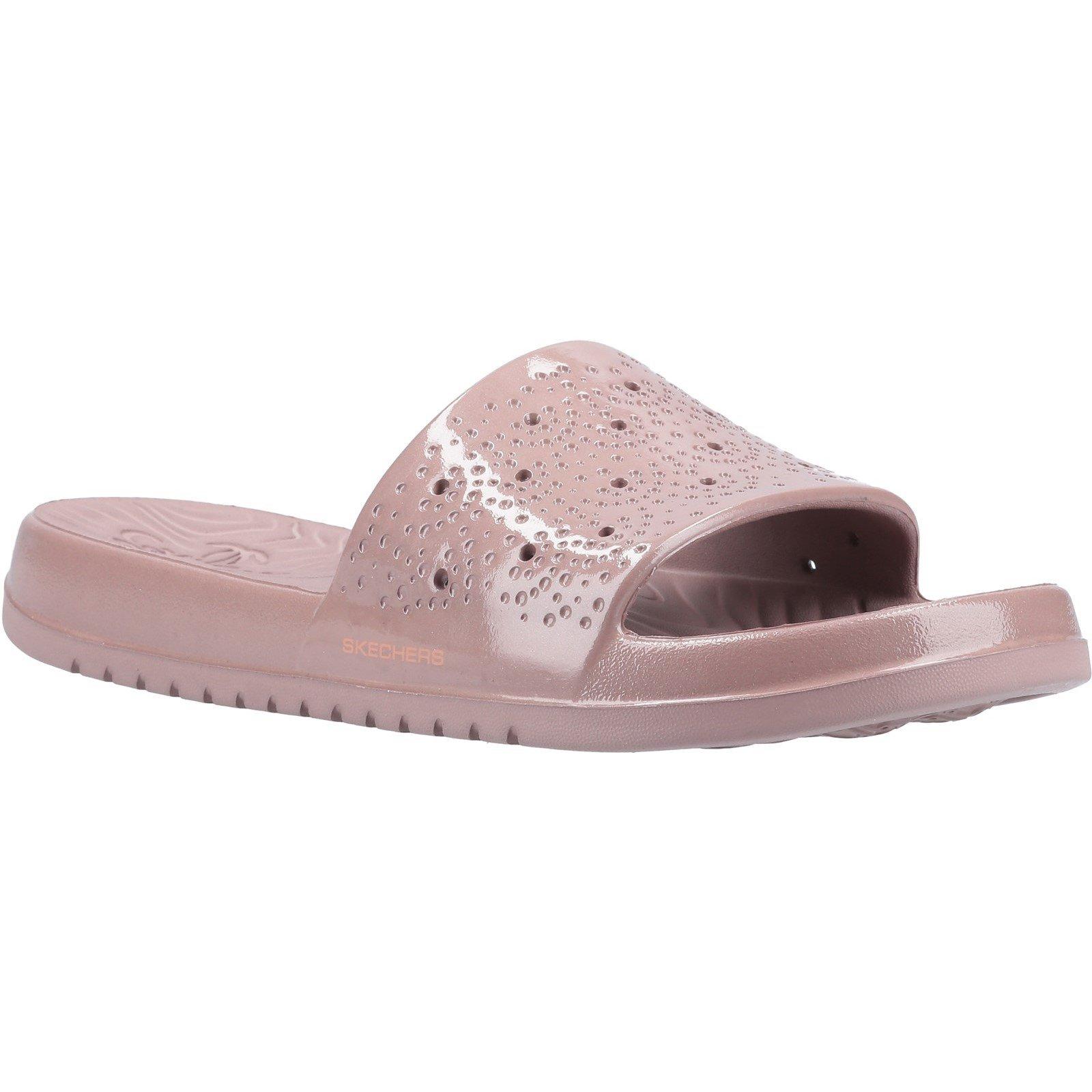 Skechers Women's Gleam Sizzling Slide Sandal Rose Gold 32373 - Rose Gold 6