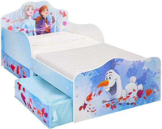 Disney Frozen Juniorseng med oppbevaring, 140x70