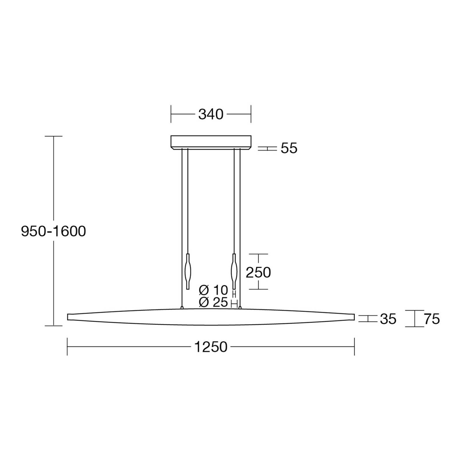HerzBlut Elva -LED-riippuvalo, tammi, Klick&Dim