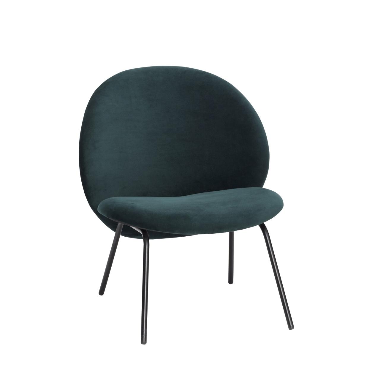 Lounge stol Boule grön sammet, Hubsch