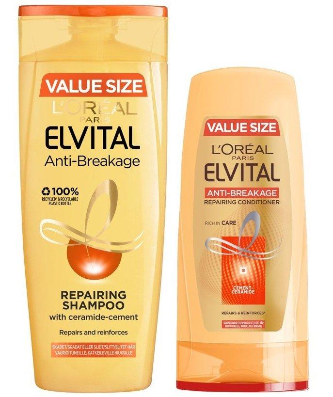 L'Oréal - Elvital Anti-Breakage Shampoo 500 ml + Conditioner 400 ml