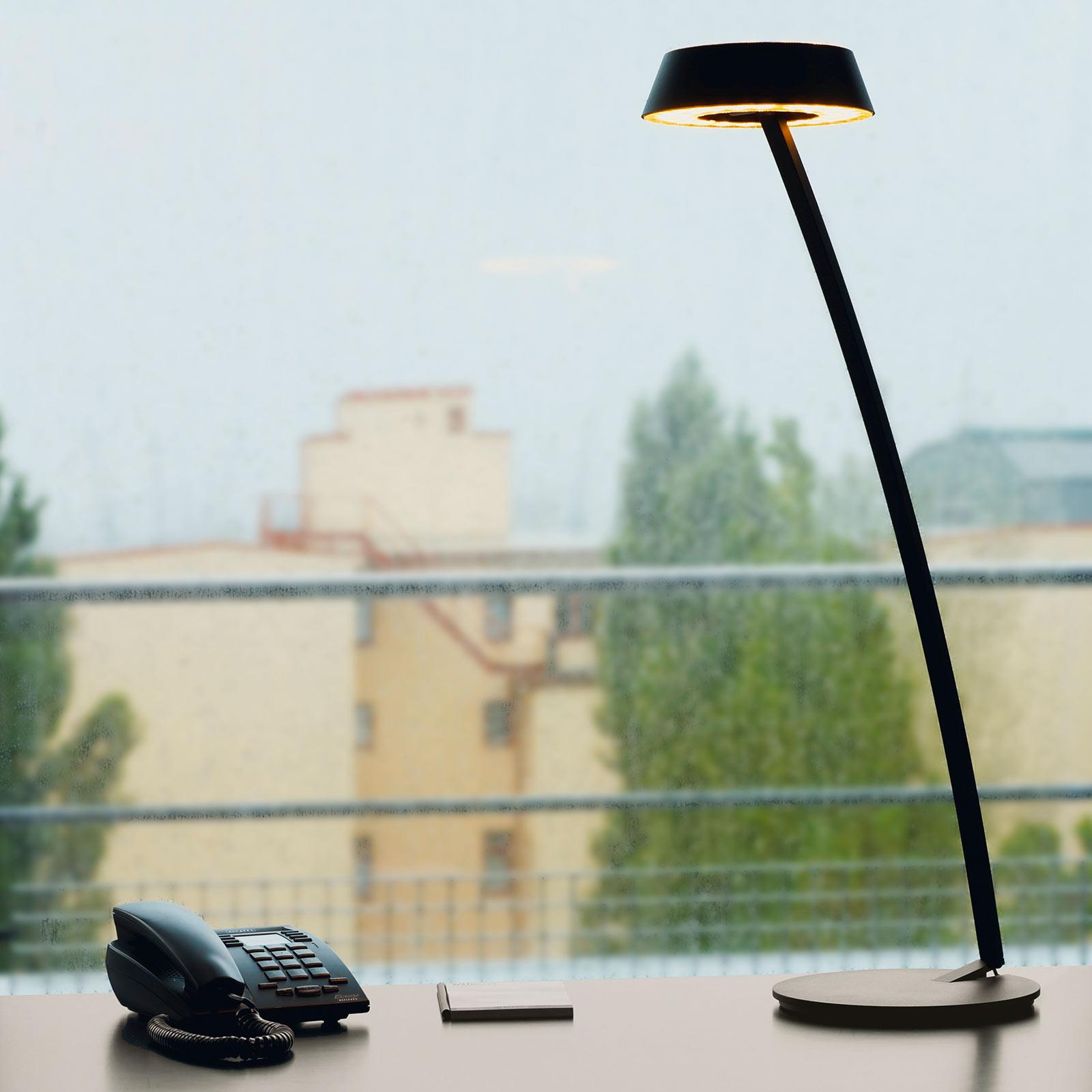 OLIGO Glance LED-pöytälamppu, kaareva, musta