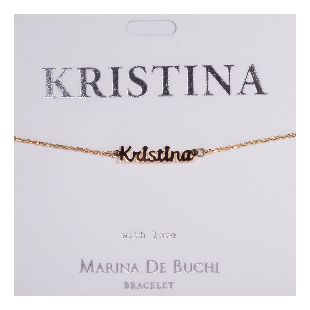 Namnarmband Guld - Kristina