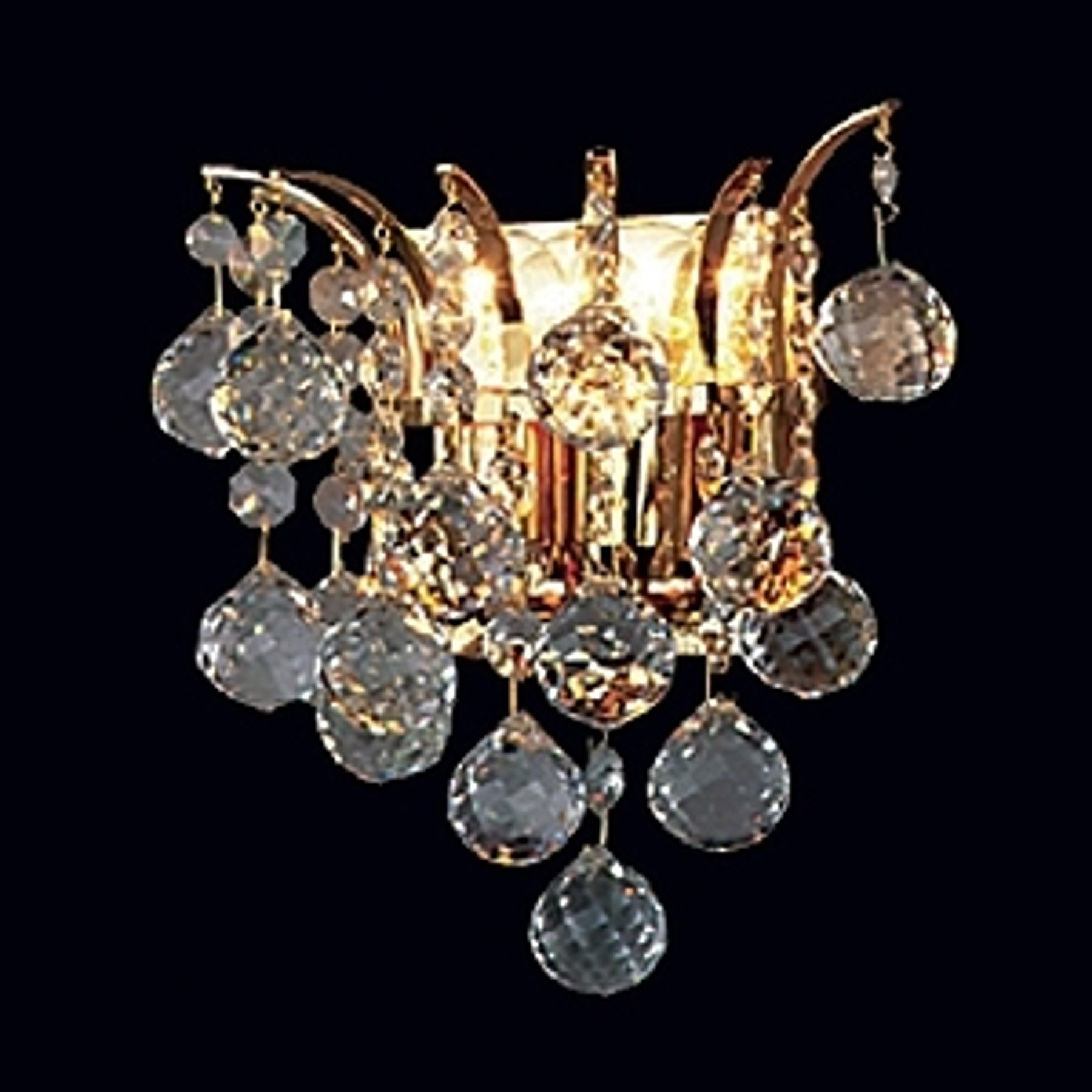 LENNARDA krystallvegglampe i gull