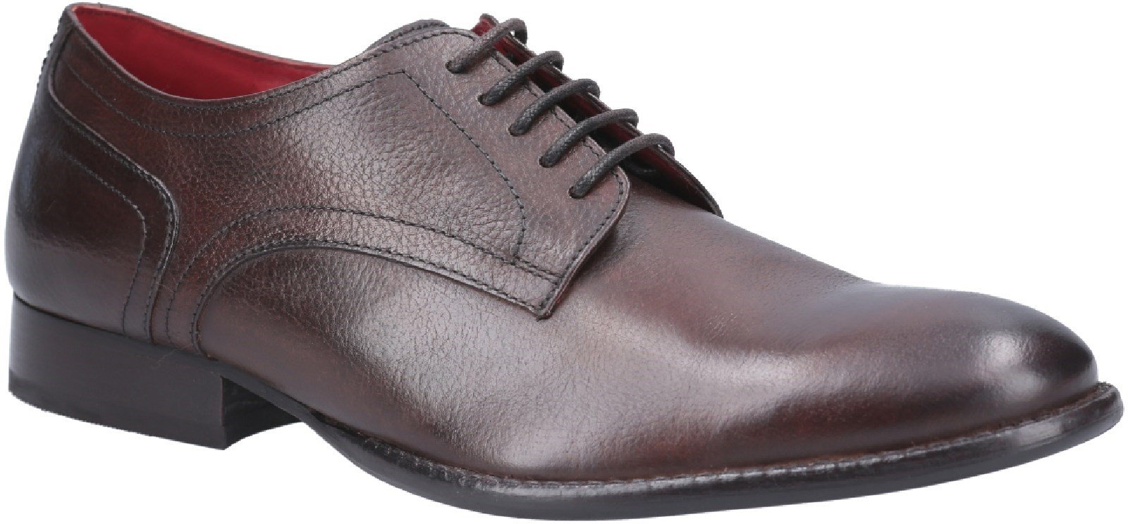 Base London Men's Ford Derby Grain Shoe Brown 25119 - Brown 6