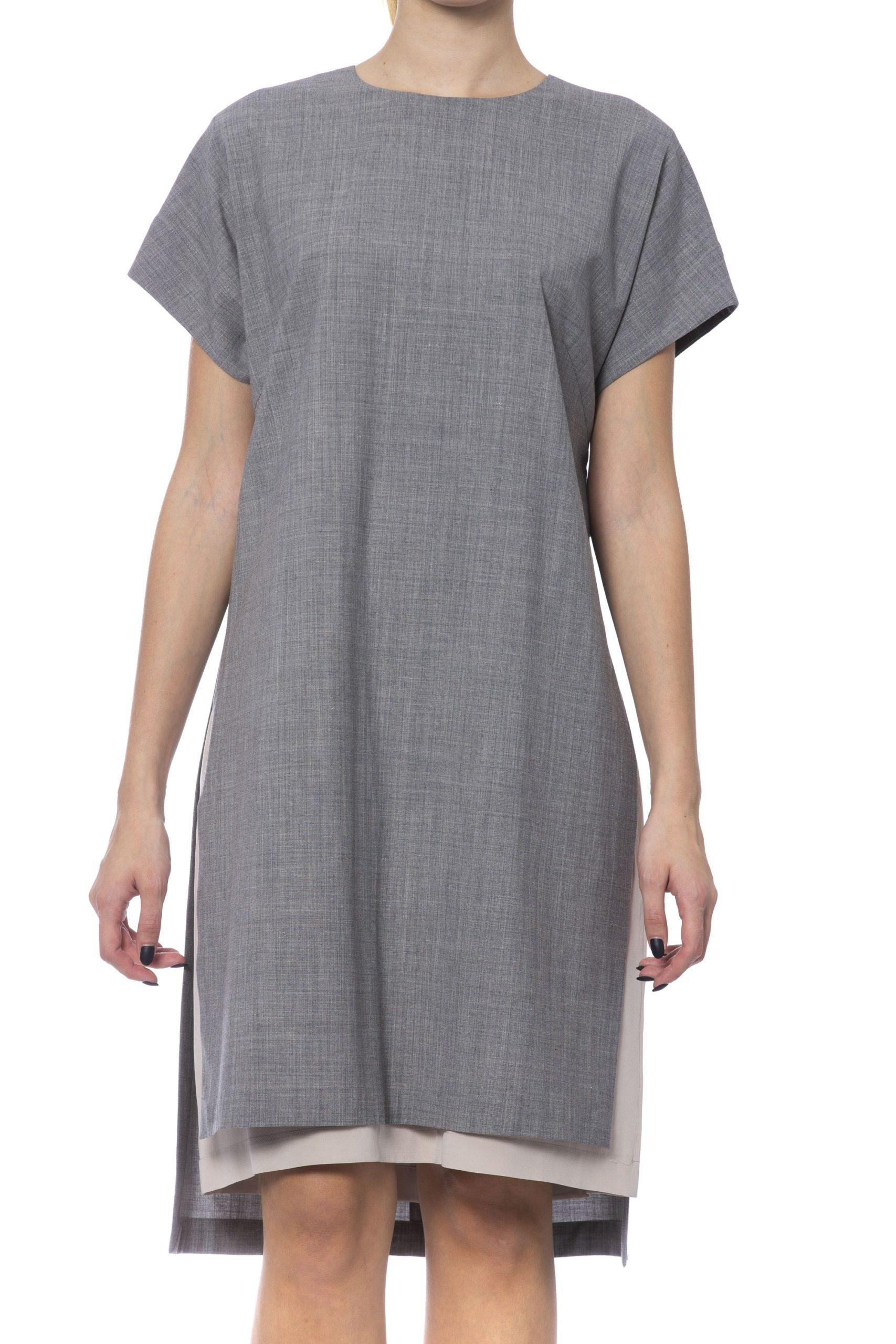 Peserico Women's Dress Grey PE992340 - IT42 | S