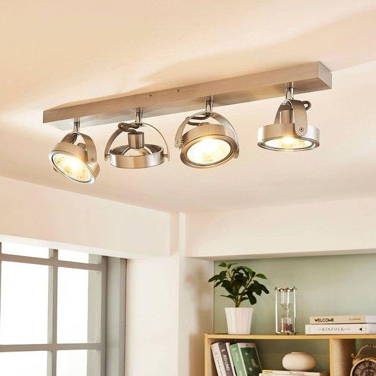 4-lamppuinen LED-kattovalaisin Lieven, alumiini